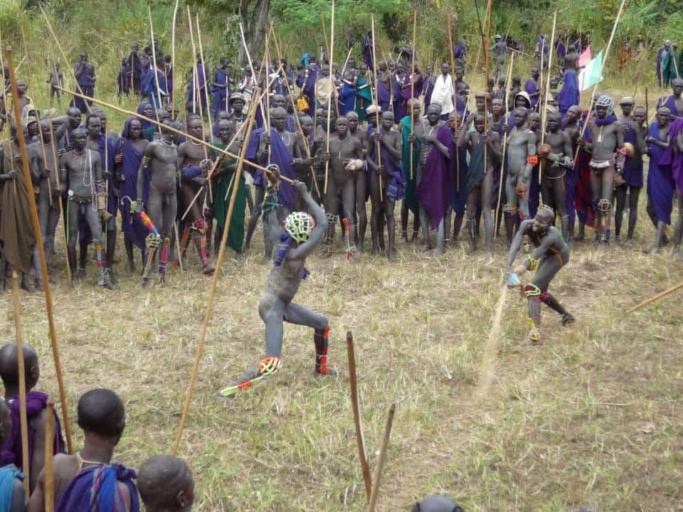 SURMA STICK FIGHTING, ETHOPIA