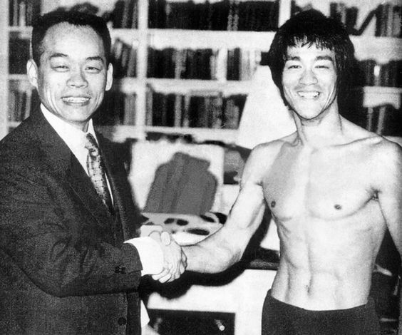 Jhon Rhee and Bruce Lee